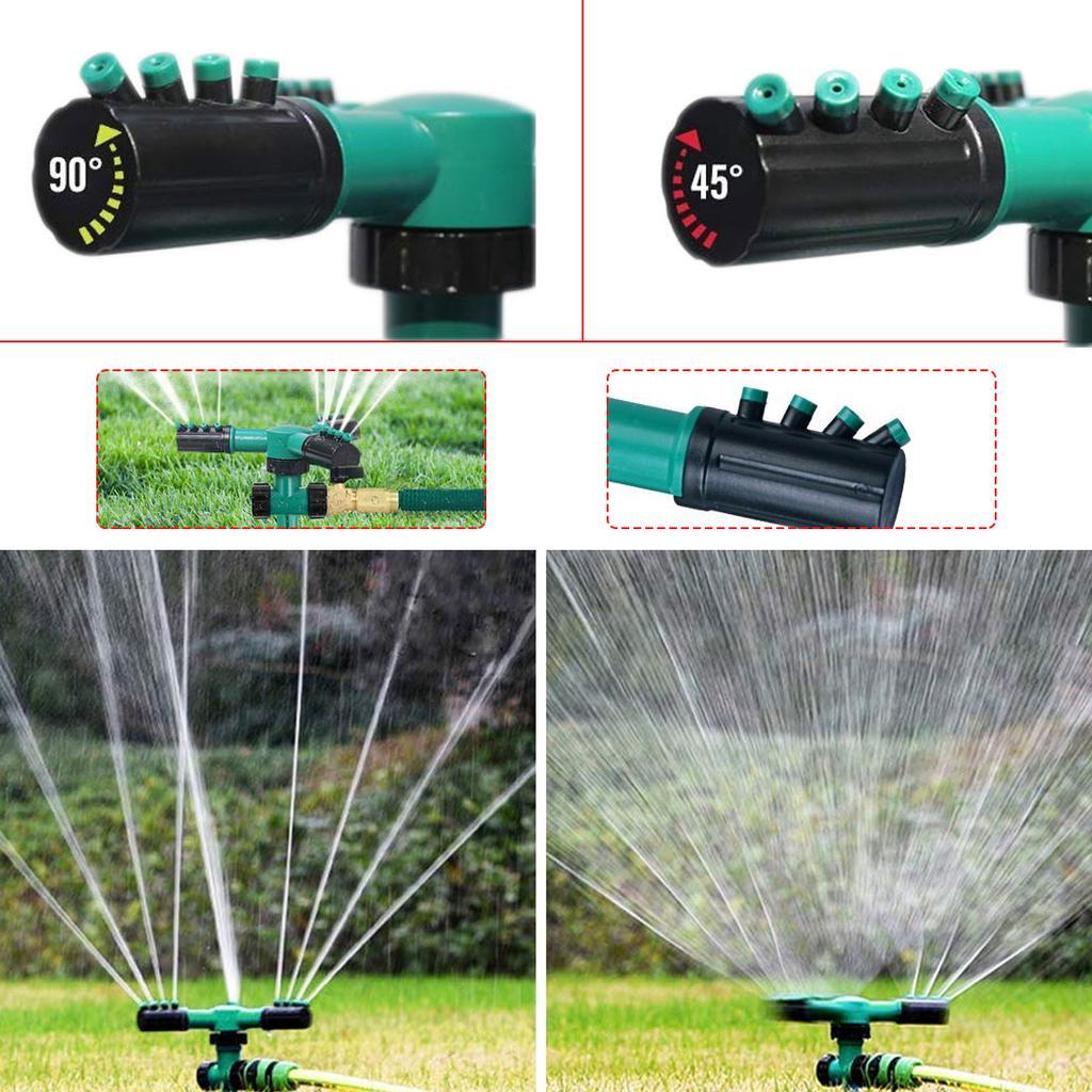 360° Rotation Garden Lawn Watering Sprinkler Automatic Sprayer Irrigation System
