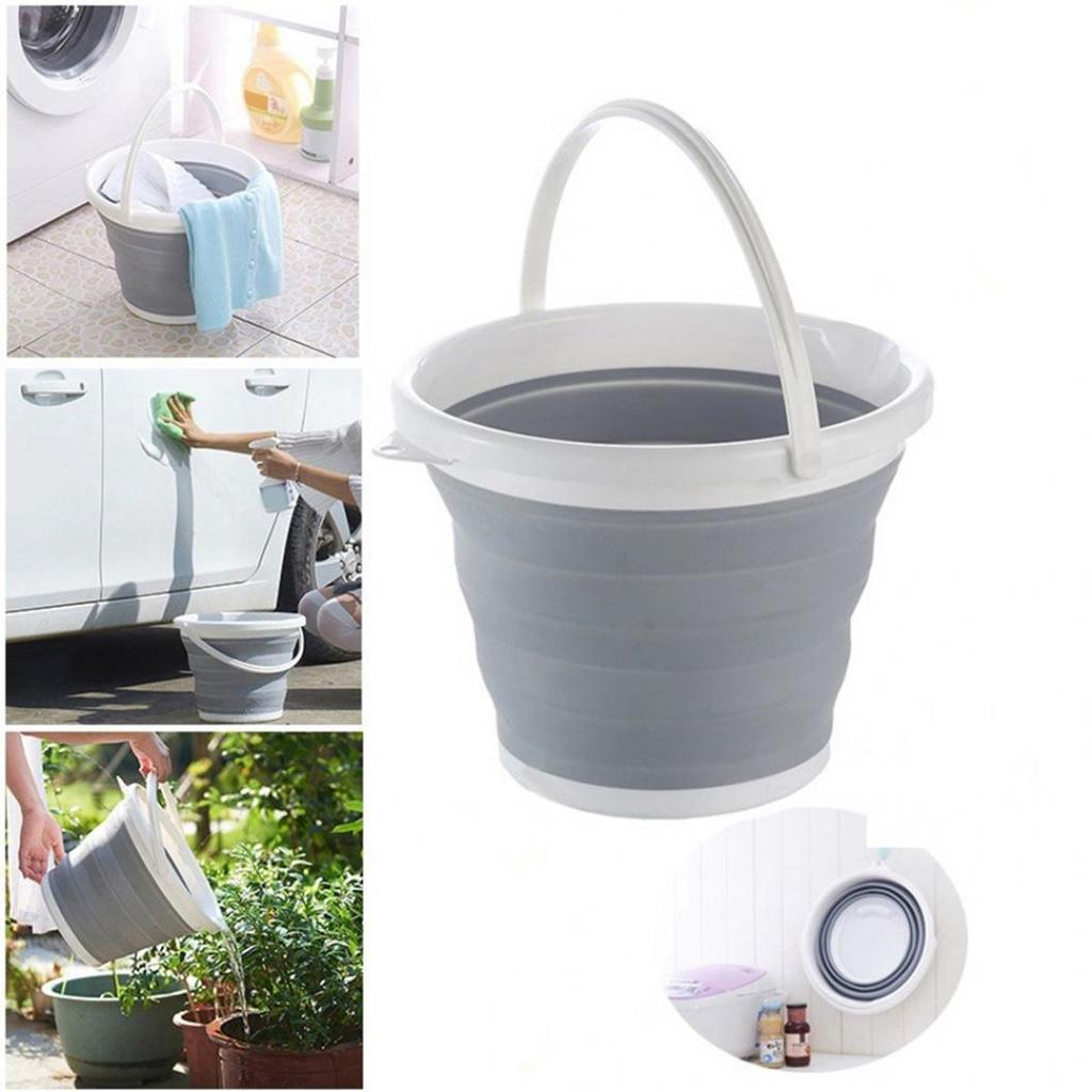 indoor  Collapsible Barrel Foldable Pail Storage New Folding Bucket Outdoor