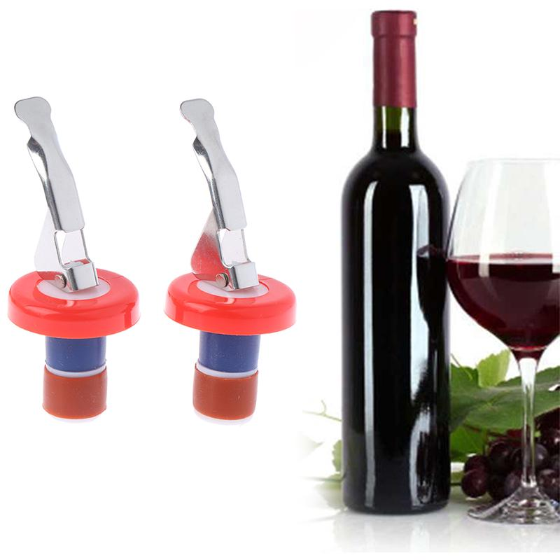 Red Wine Bottle Stopper Quality Stainless Steel Vacuum Sealed Plug Bar Tool