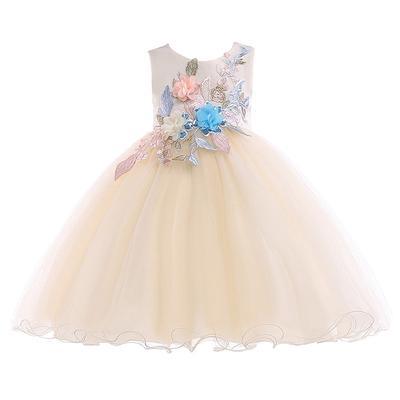 Rochii De Toamna Fata Dulce Mireasa Copii Brodate Ball Gown Lace