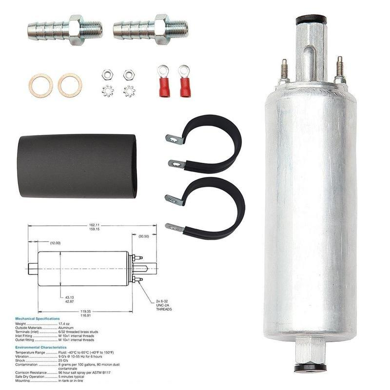 GSS341 255LPH High Performance EFI PSI /& Flow Pump and Replaces Installation Kit
