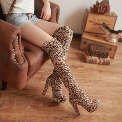 pretty nice 54ddb 515e3 Sexy Women Shoes Red Bottom Suede Thigh High Boots Platform ...