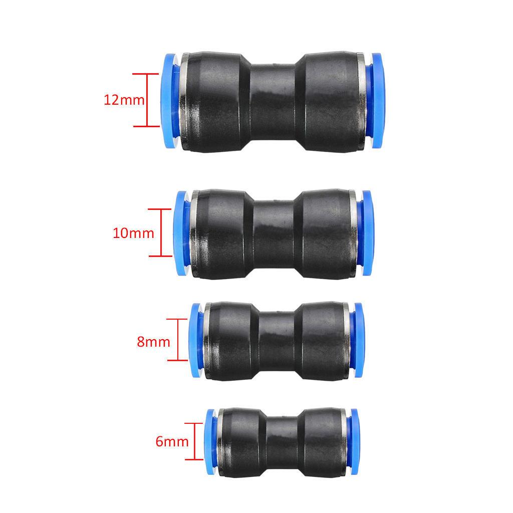 "5pc tubo neumático 6mm a 1//4/"" BSP Codo Rosca Macho Conector Empuje Montaje"