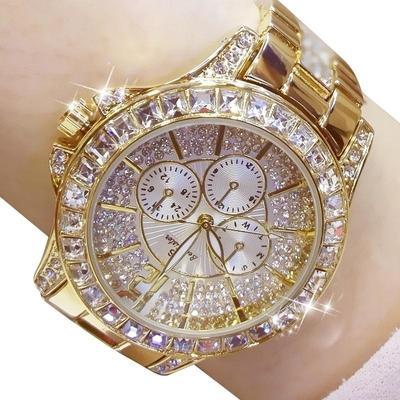 New Women Quartz Watches Fashion Diamond Watch Rhinestone for Ladies Silver Gold Watches