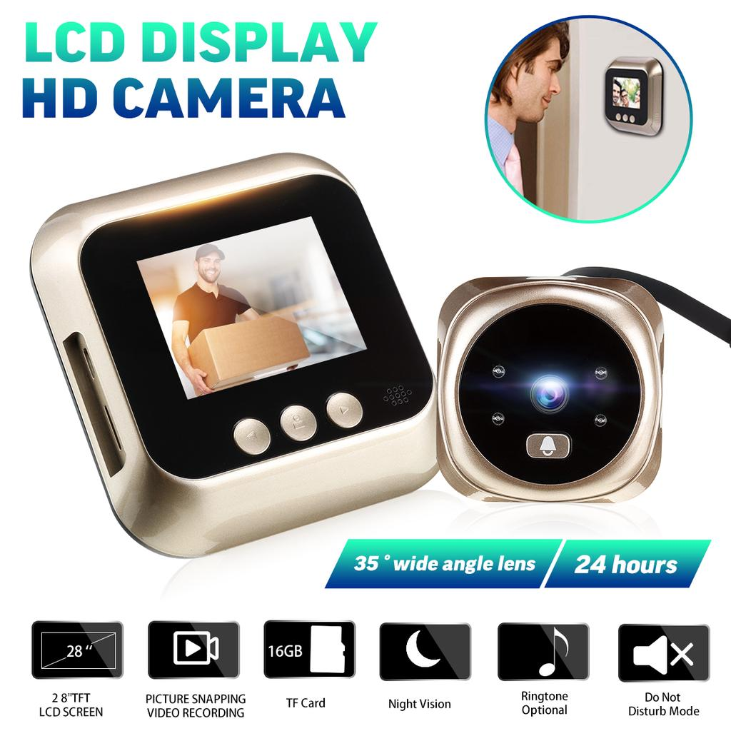 4.3'' TFT Digital Peephole Viewer 145°Door Eye Doorbell Video Door Viewer Camera