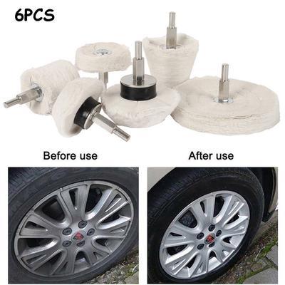 8PCS Buffing Pad Polishing Mop Car Wheel Buffer Polisher Kit Drill Attachment