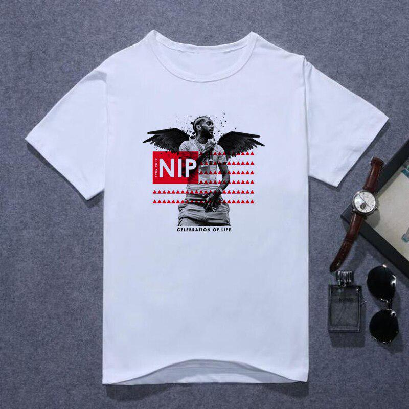 Fashion Nipsey Hussle T Shirts Men/'s Rapper RIP Graphic T-Shirt Black