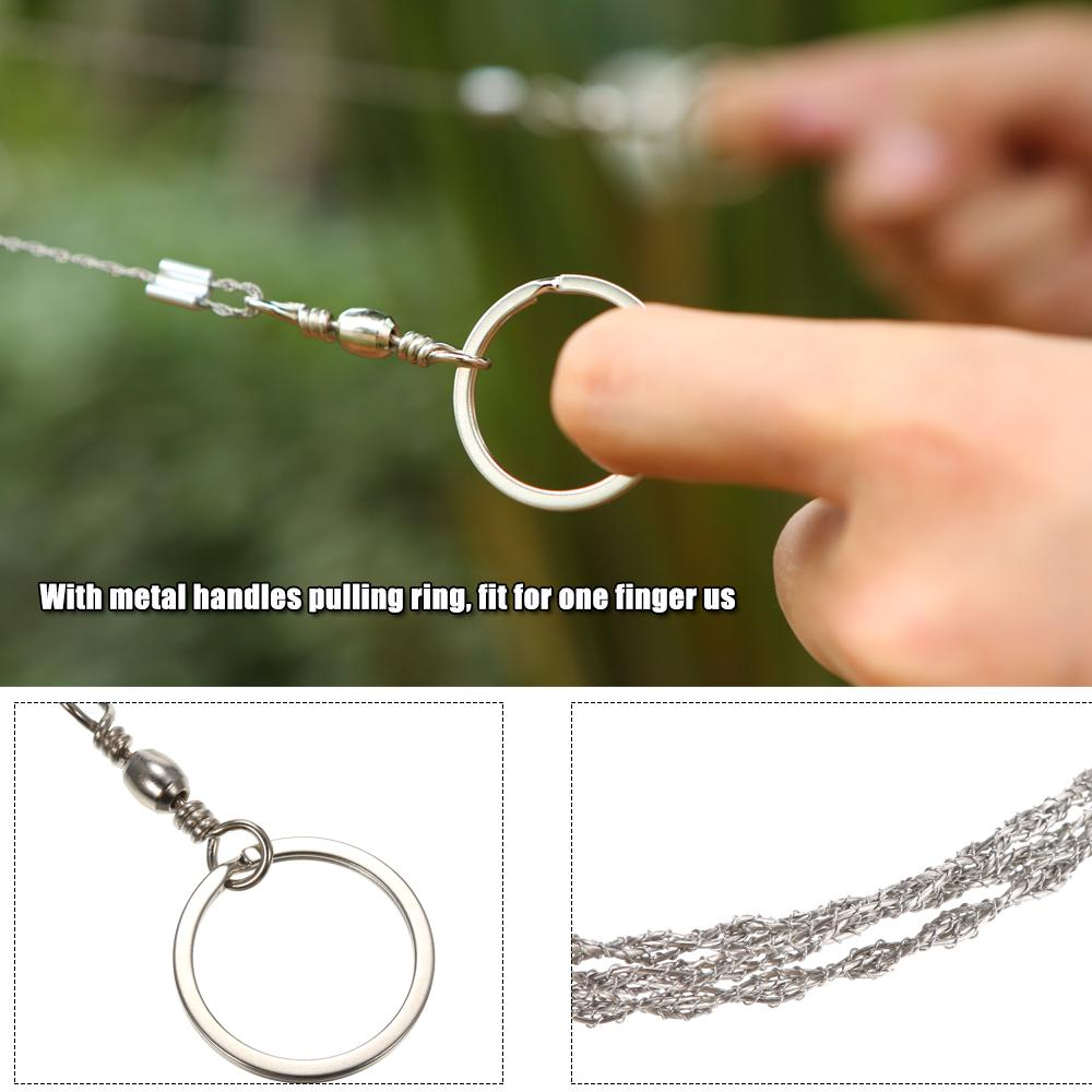 Lightweght Stainless-Steel Wire Saw Outdoor Survival Tool Kit Survival Saw Ge WF