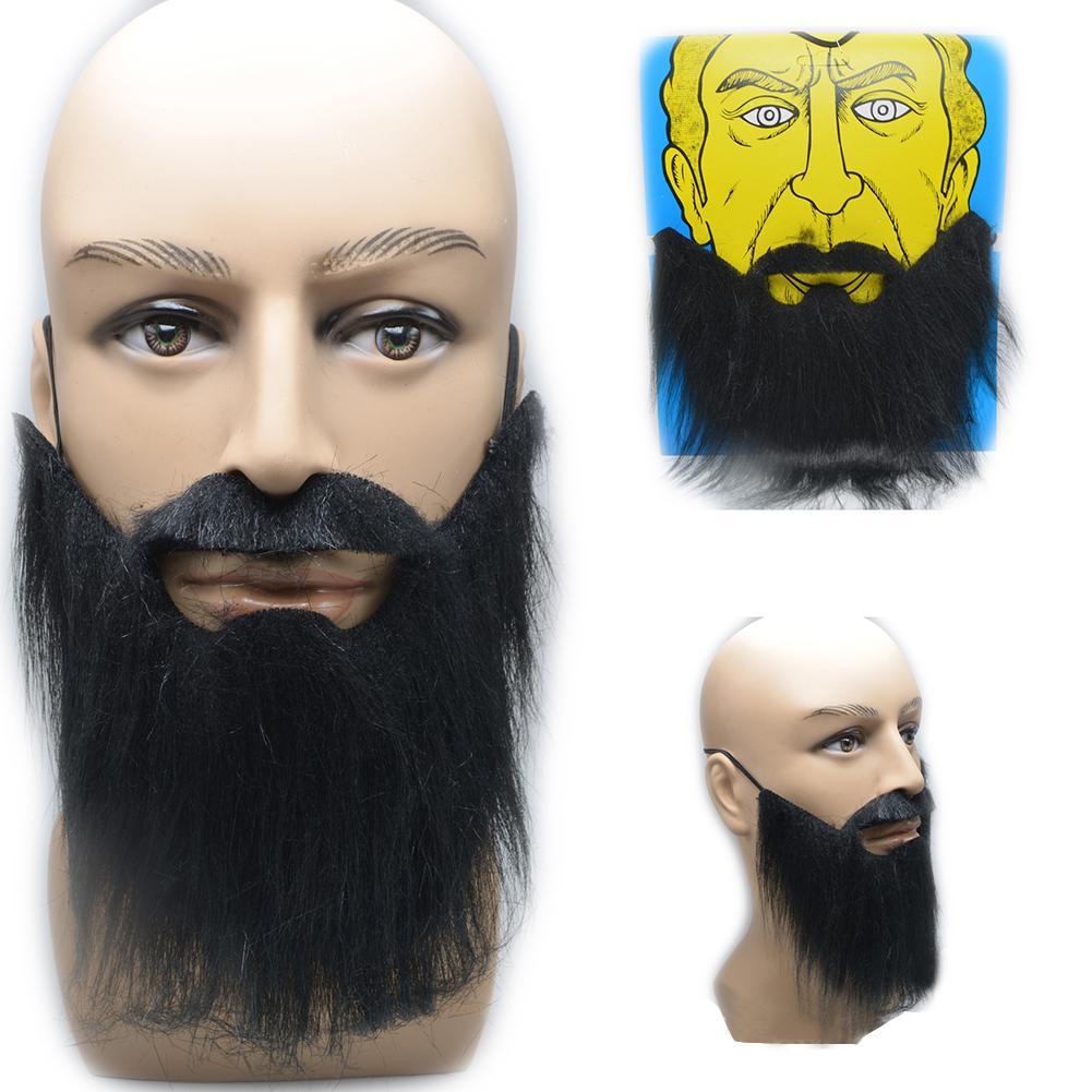 Halloween Prom Props Costume Facial Hair Moustache Wig Fancy Dress Fake Beard
