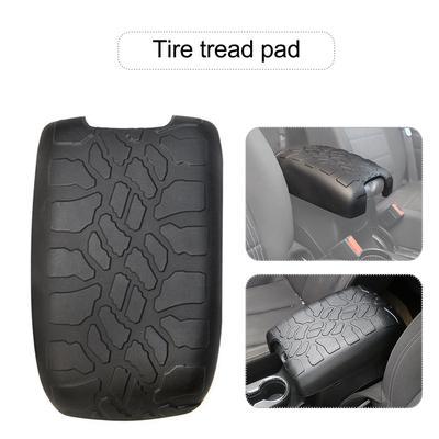 JK /& JKU Tire Tread ArmPad Armrest Cushion 2011-2018 Jeep Wrangler Center Console Cover