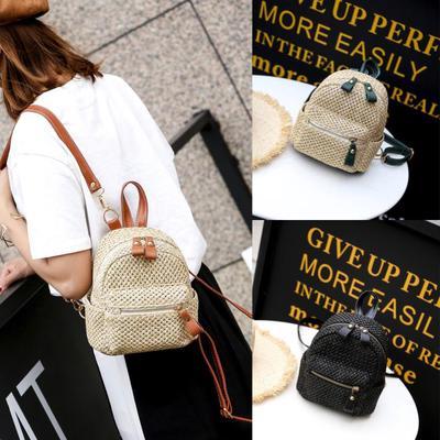 0044e1d90935 Национальная мода женщин девушка ткать путешествия рюкзак школа мини сумка  рюкзак