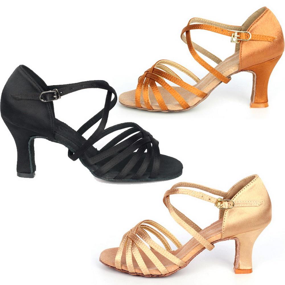 张张舞鞋拉丁舞鞋成人女中高跟多色软底广场舞7CM高跟Z3003