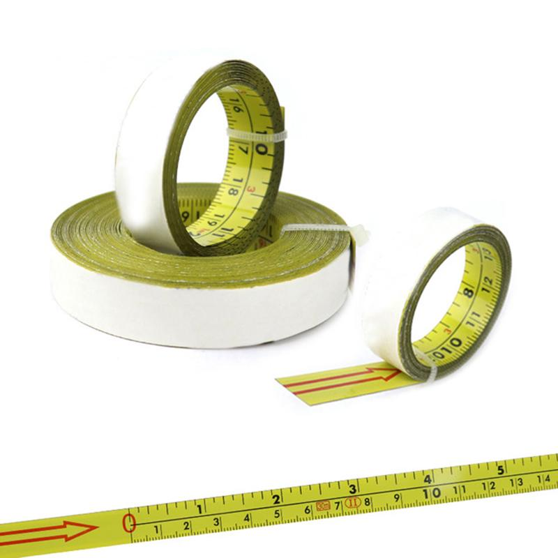 Miter Saw Tape Measure Self Adhesive Metric Steel Ruler Miter Track Stop Tape