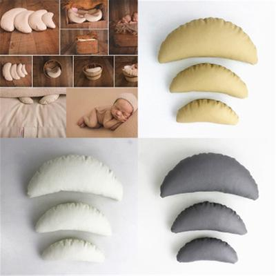 3Pcs Baby Photography Moon Pillow Posing Props Newborn Basket Filler Fotografia