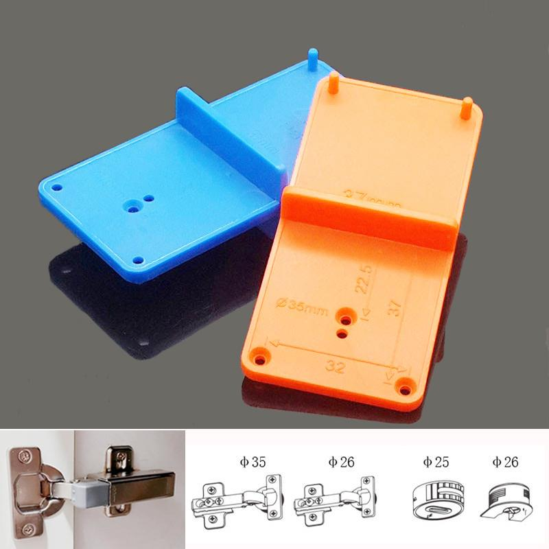 35/40mm Hinge Hole Drilling Guide Locator Woodworking Punch Drill ...