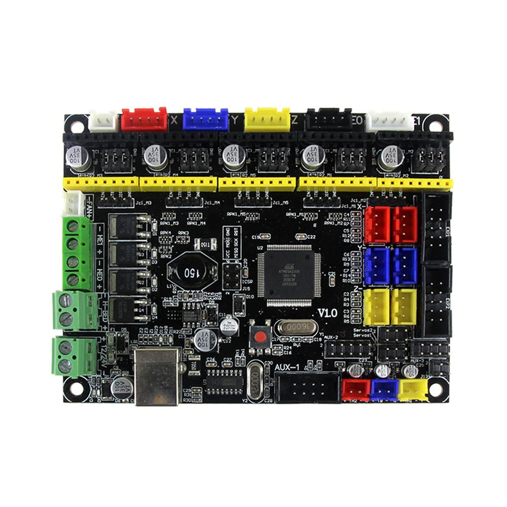 V1.0 Compatible Ramps1.4 3D Printer Controller Board Main Control Panel Support Heated Bed 3D Printer Parts Motherboard