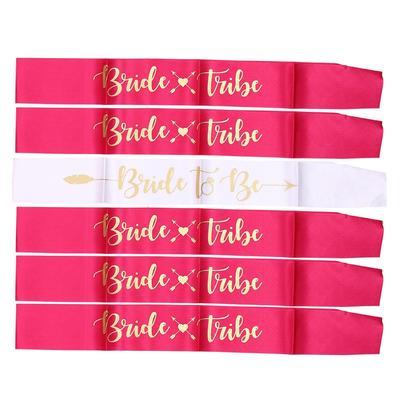 Rose Gold Hen Party Sashes Bachelorette Night Team Bride Ribbon Sash Decoration