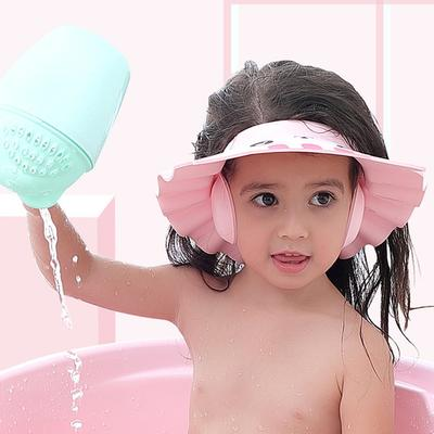 AngelBaby Shower Cap Adjustable Hair Wash Hat For Newborn Infant Ear Protection Children Kids Shampoo Shield Head Cover
