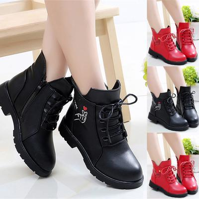 Children Baby Girls Casual Princess Single Leather Boots Shoes