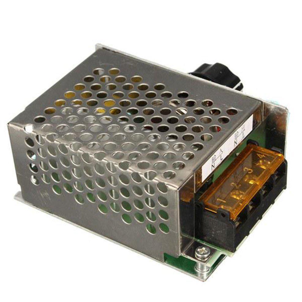 Silver 4000W AC 220V Adjustable Motor Speed Controller Voltage Regulator Dimmer