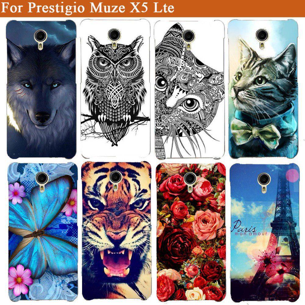 Силиконовый мягкий ТПУ телефона для Prestigio Muze X5 LTE PSP5518 дуэт фото