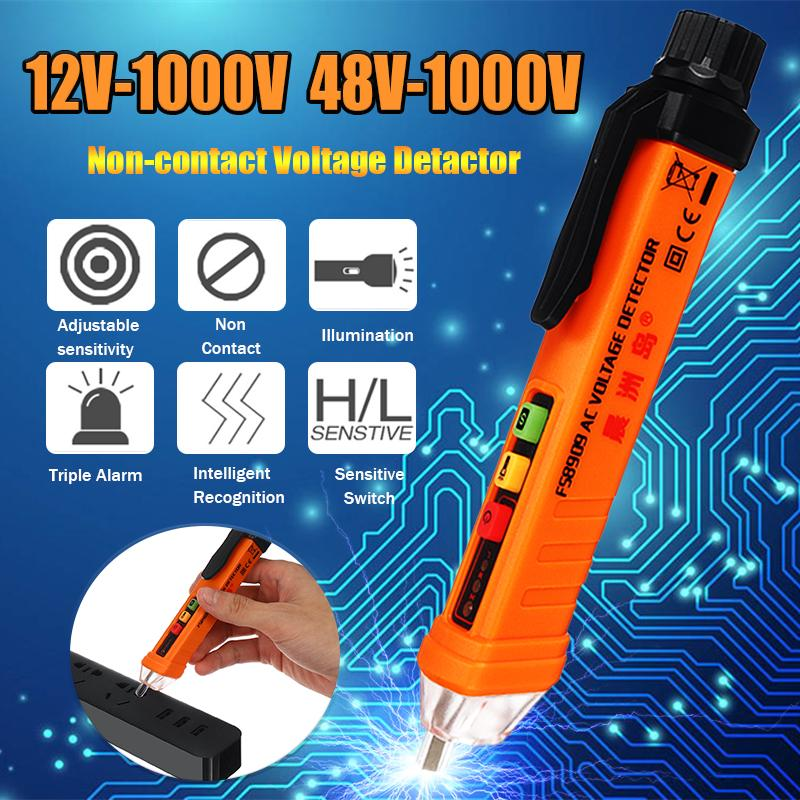 Non-Contact LCD Electric Test Pen Voltage Digital Detector Tester 12~1000V AC