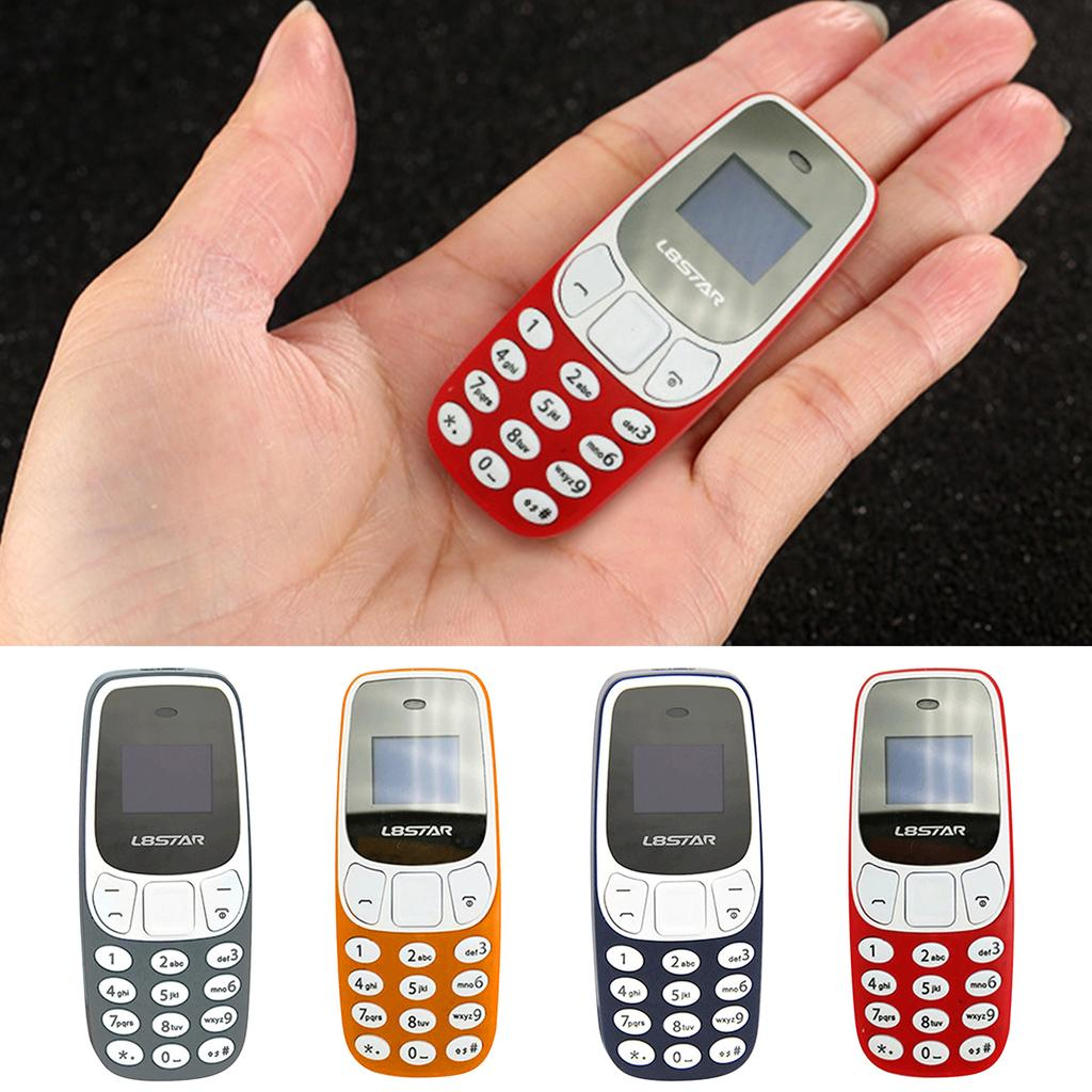Color : Grey Practical Mini BM10 Small GSM Mobile Phone Bluetooth Dialer Dual Card MP3 Bluetooth Cellphone