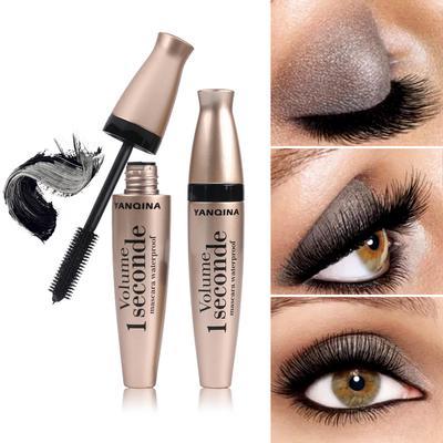3D Waterproof Mascara Liquid Fiber Black Eyelashes Curling Brush Long Lasting Eye Makeup Extension