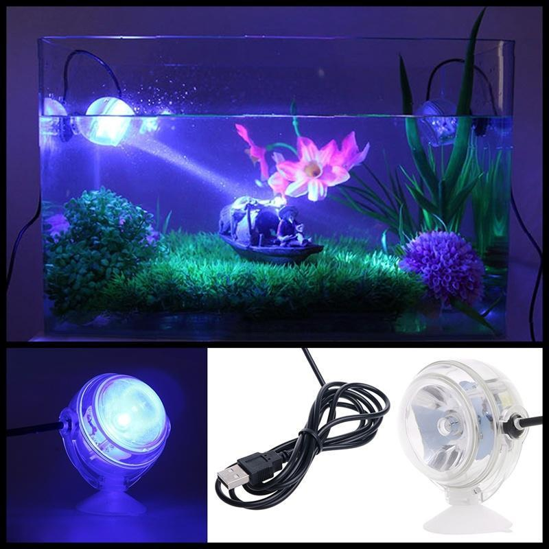 Electric Jellyfish Lamp Tank Aquarium LED Color Changing Home Decoration EU