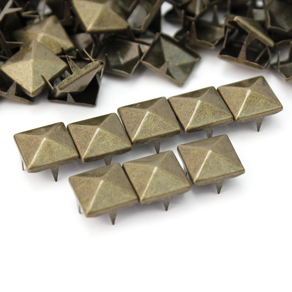20pcs 5//6.5//8mm Silver Flat Screwback Rivets Set Leather Craft Repair Tool  DIY