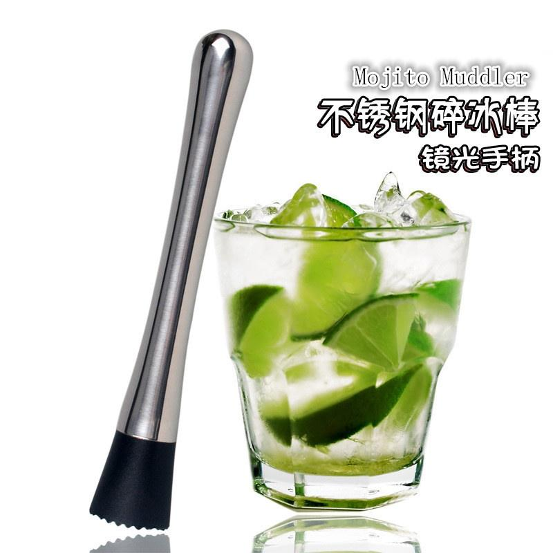 2pcs Cocktail Muddler Stainless Steel Bar Mixer Spoon Bar Drink Mojito DIY