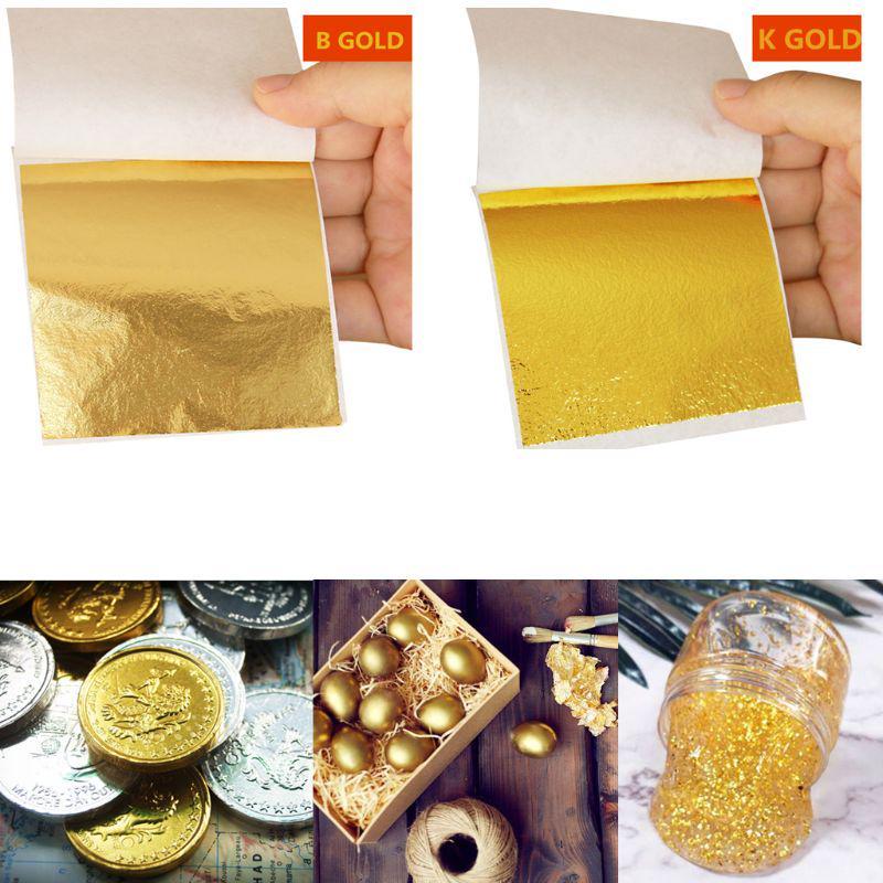 10 шт имитация сусального золота фольги Арт Крафт бумага позолота DIY украшения слизи фото