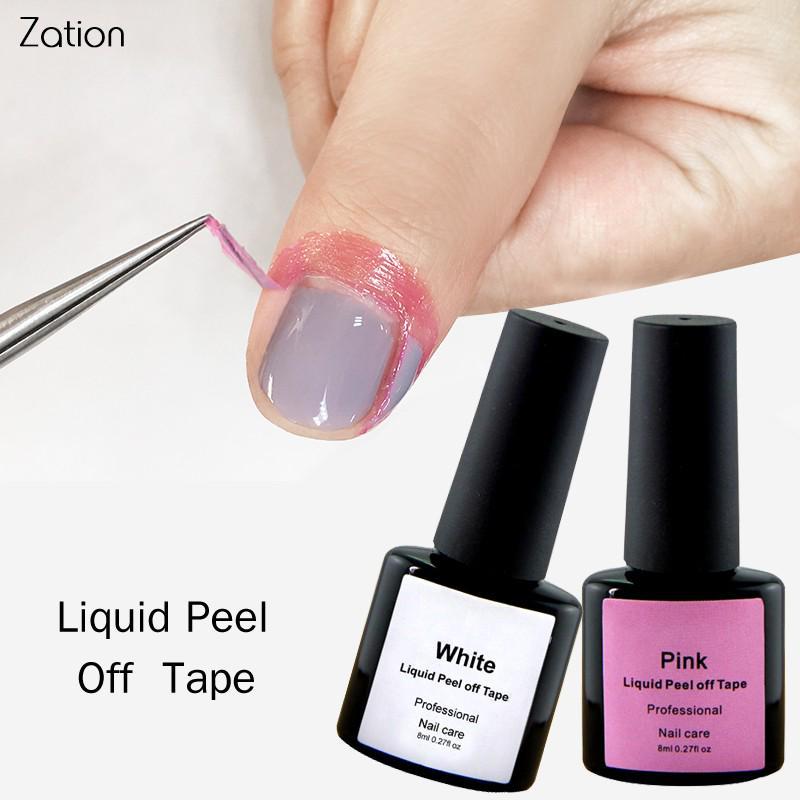 Ногтей гель жидкий шелушиться ленты белый и розовый фото