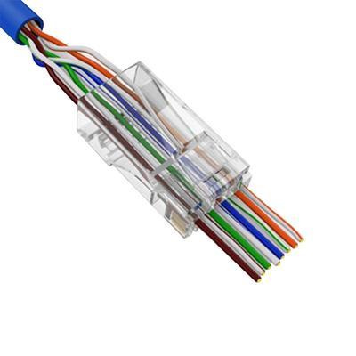 100pcs Cat5e RJ45 8P8C Network Cable Modular Plug Network Connector 8P8C