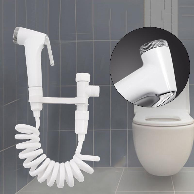 Stainless Steel Handheld Bidet Spray Shower Head Toilet Adapter Hose Kit Home