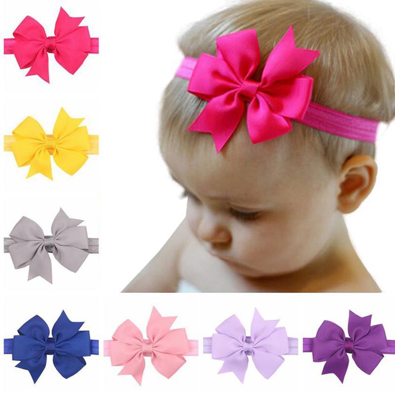 Baby Girls Hairband Soft Head Stretch Band Headband Flower Hair Styling Trinket