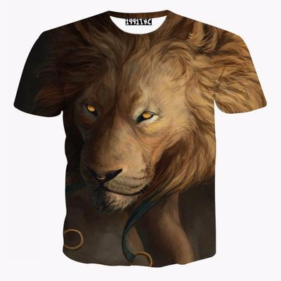 434c8e980c7 Men Fun Animal Printing Summer Fashion Shirts Casual Short Sleeve Sport  Clothing T-shirts Tops