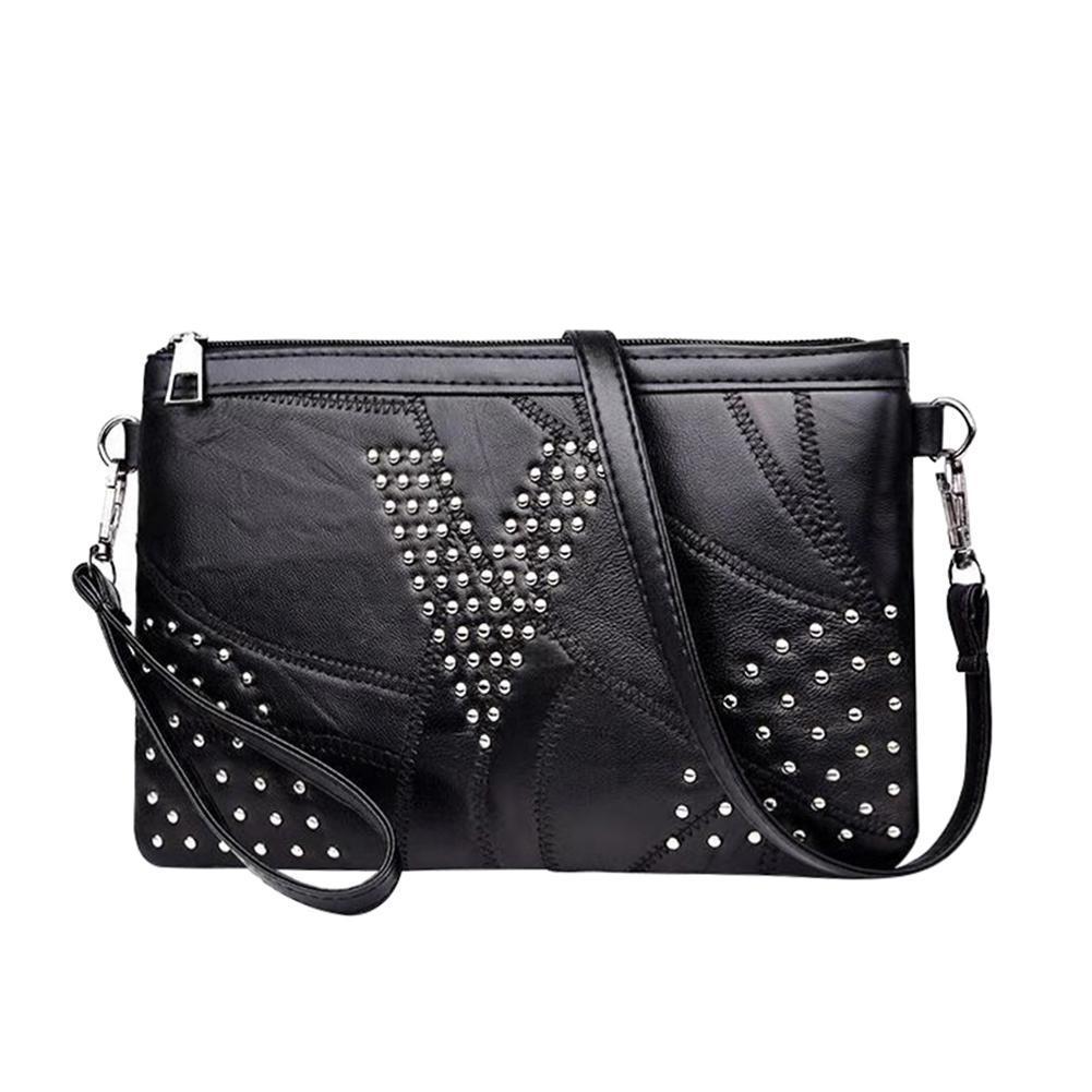 Женщин заклепки пу кожаный ранец Crossbody мешок слинг Messenger сумки на плечо
