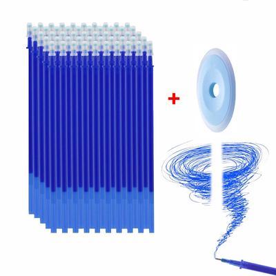 50Pcs/set Erasable Refill Rod Magic Erasable Pen Washable Handle 0.5mm Blue Black Ink Gel Pen Office