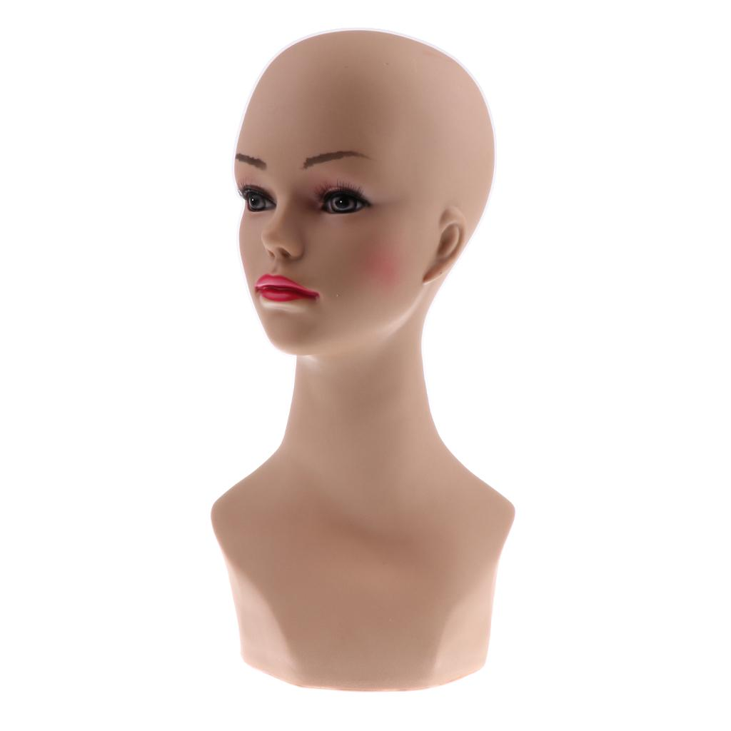 Female Mannequin Head Model for Glasses Hat Wig Scarves Showcase Display