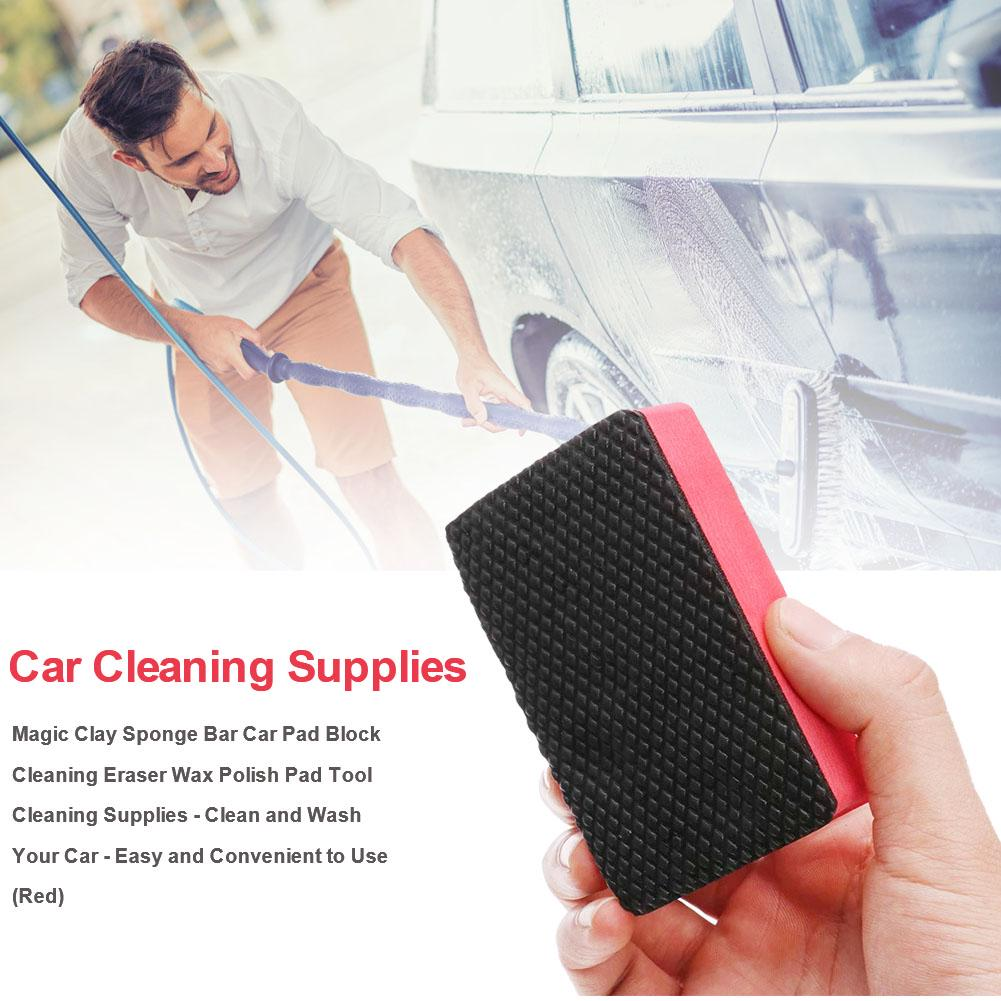 Car Magic Clay Bar Pad Sponge Block Cleaner Cleaning Eraser Wax Polish Pad Tool