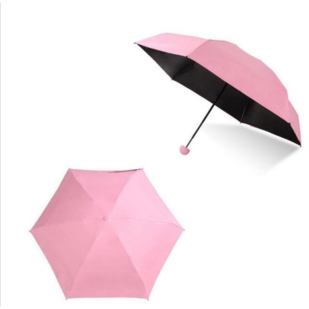 Pink Marble Automatic Tri-fold Umbrella Folding Rain Umbrell Sunshade