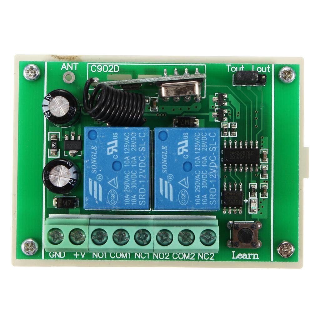 4 Canaux Commutateur de Commande /à Distance Sans Fil Module Intelligent Apprentissage Module de Relais R/écepteur 4 Touches Emetteur RF Home Kit de porte