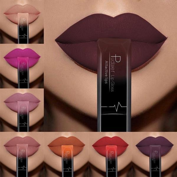 Лучший макияж для губ 18 Цвет Сексуальный Матовый Долговременный Lipgloss жидкий крем для губ для губ фото