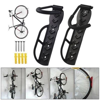 Adjustable Indoor Bike Hanger for Road Horizontal Bike Hook Holder Storage Rack for Garage Funle Bicycle Bike Wall Mount Mountain or Hybrid Bikes