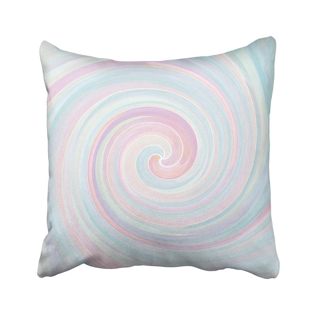 Pink Pastel Abstract Swirl Throw Pillow