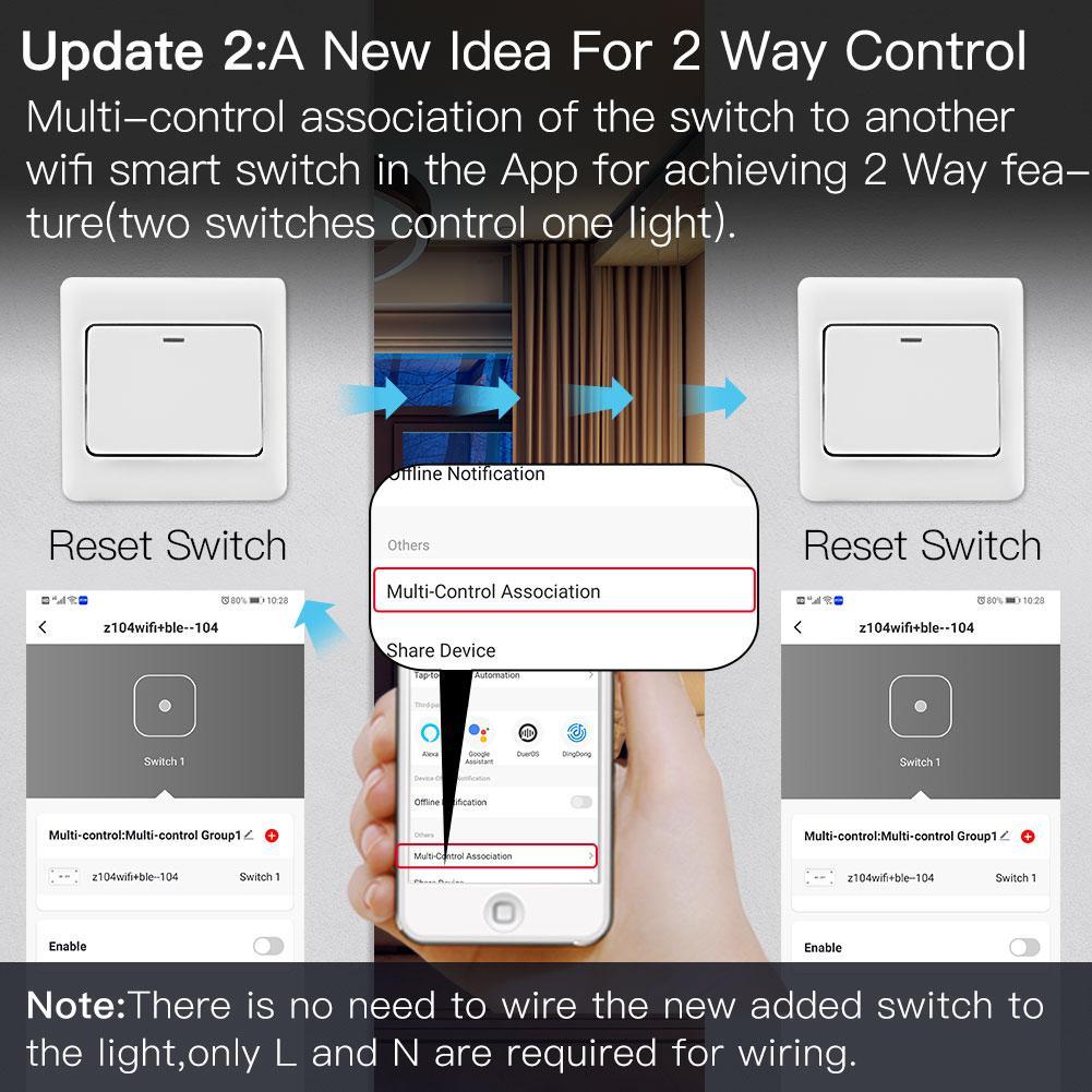 2 Way Wifi Smart Lichtschalter DIY Breaker Modul Smart Life APP Fernbedienung
