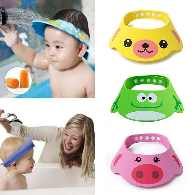 Humor 2pcs Safe Shampoo Shower Bathing Bath Protect Soft Cap Hat For Baby Wash Hair Shield Bebes Children Bathing Shower Cap Hat Kids Hair Care & Styling