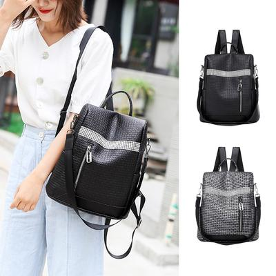 Multipurpose Daypacks Backpack Ladies Leather Fashion Street Trend Wild Casual Shoulder Diagonal Wallet Waterproof Travel Bag Retro Backpack
