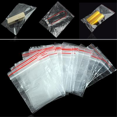 100pcs Wholesale Poly Plastic Reclosable 3 Size Ziplock Bag Jewelry Pouches